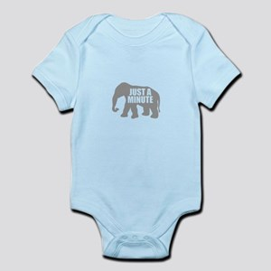 Just a minute. Grey Elephant Body Suit