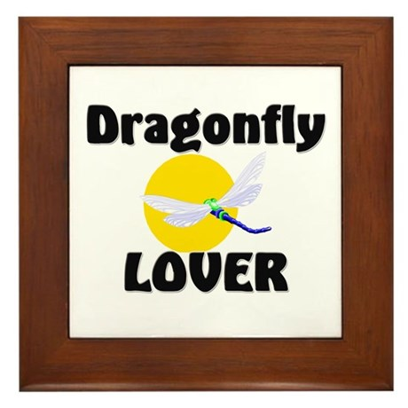 Dragonfly Lover Framed Tile