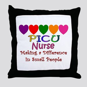 PICU Nurse Throw Pillow