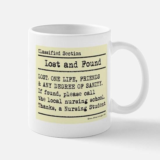 Lost Found Student Nurse Mug
