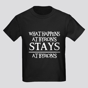 STAYS AT BYRON'S Kids Dark T-Shirt