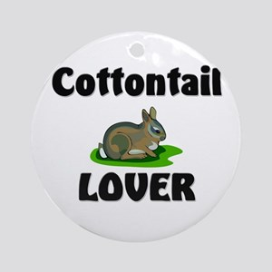 Cottontail Lover Ornament (Round)