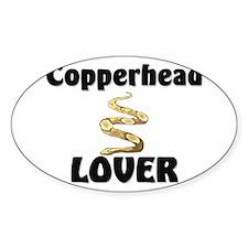 Copperhead Lover Oval Sticker