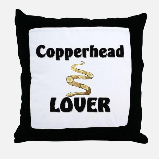 Copperhead Lover Throw Pillow