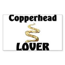 Copperhead Lover Rectangle Sticker