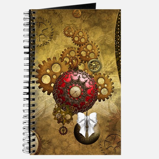 Steampunk, noble design, clocks and gears Journal
