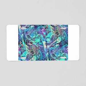 iridescent Aluminum License Plate