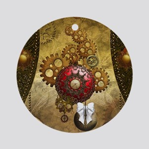 Steampunk, noble design, clocks and gears Round Or