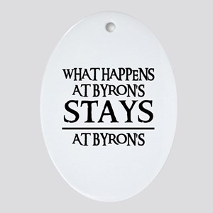 STAYS AT BYRON'S Oval Ornament