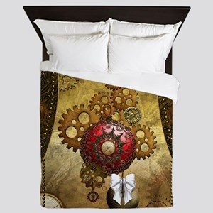 Steampunk, noble design, clocks and gears Queen Du