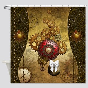 Steampunk, noble design, clocks and gears Shower C