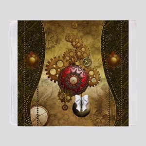 Steampunk, noble design, clocks and gears Throw Bl