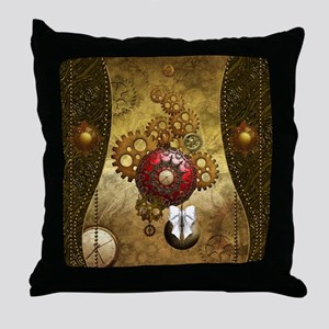 Steampunk, noble design, clocks and gears Throw Pi
