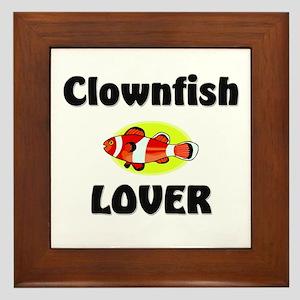 Clownfish Lover Framed Tile