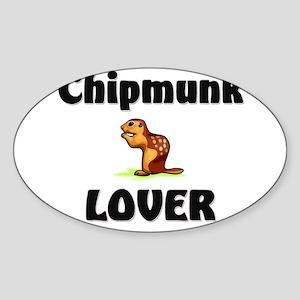 Chipmunk Lover Oval Sticker