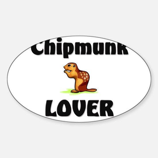 Chipmunk Lover Oval Decal