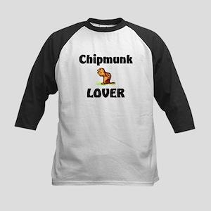 Chipmunk Lover Kids Baseball Jersey