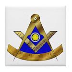 Masonic PM w/Square Tile Coaster