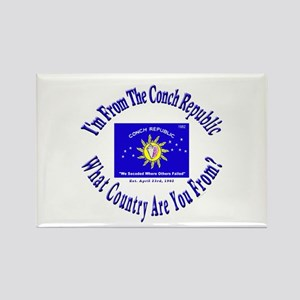 Conch Republic Rectangle Magnet