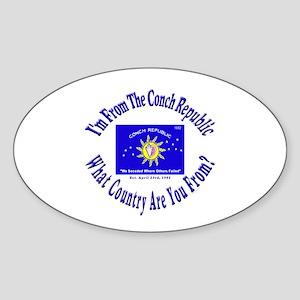 Conch Republic Oval Sticker