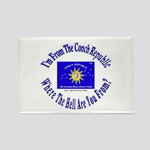 Conch Republic 2 Rectangle Magnet