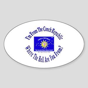Conch Republic 2 Oval Sticker