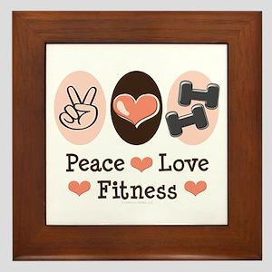 Peace Love Fitness Framed Tile