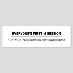 vi Session Bumper Sticker