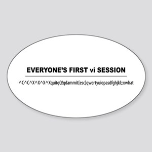 vi Session Oval Sticker