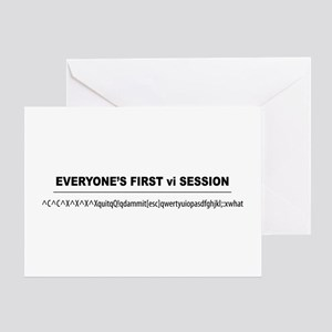 vi Session Greeting Card
