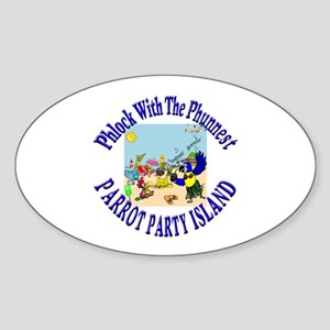 Parrot Party Oval Sticker