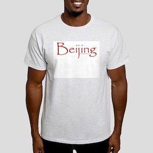 Beijing (Red) - Ash Grey T-Shirt