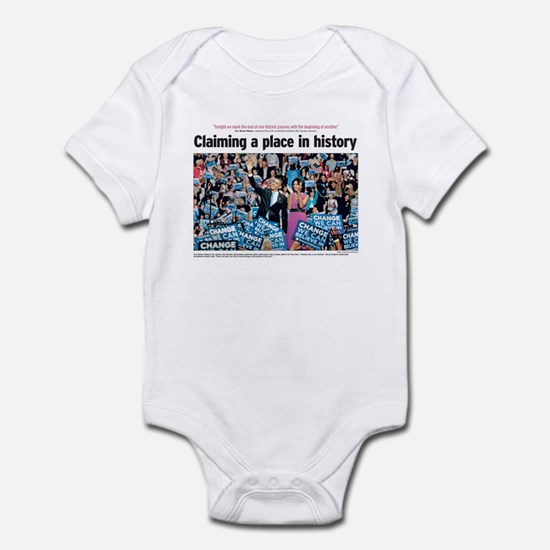 Obama Claiming Place in History Infant Bodysuit