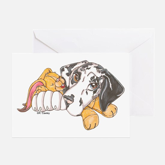 NH Bunny Puppy Greeting Card