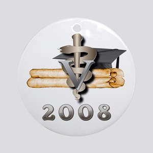 Vet Grad 2008 Ornament (Round)