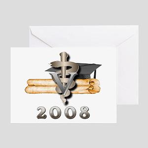 Vet Grad 2008 Greeting Card