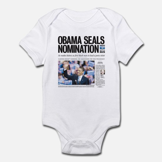 Obama Seals Nomination Infant Bodysuit