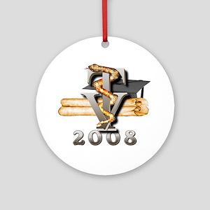 2008 Vet Tech Grad Ornament (Round)
