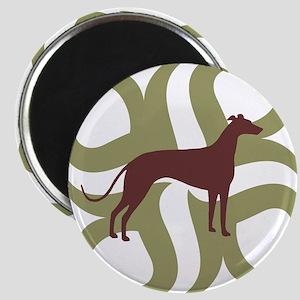 Greyhound Dog Tribal Magnet
