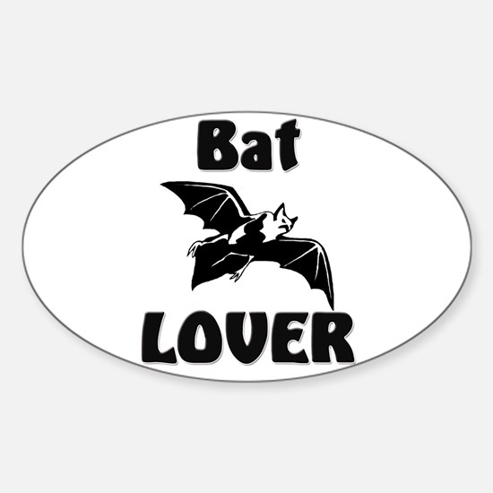 Bat Lover Oval Decal