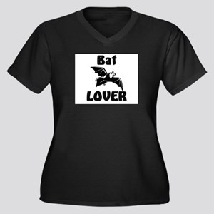 Bat Lover Women's Plus Size V-Neck Dark T-Shirt