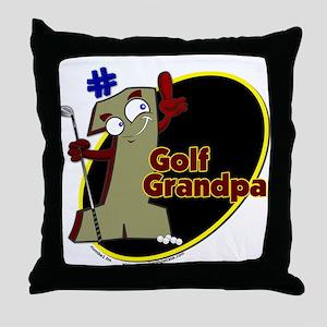 Number 1 Golf Dad Throw Pillow