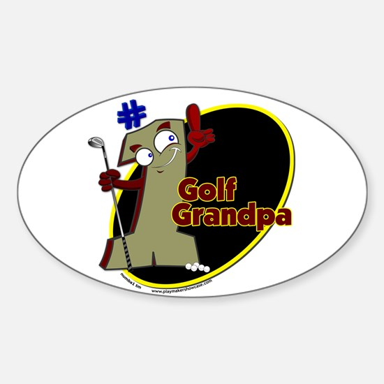 Number 1 Golf Dad Oval Decal