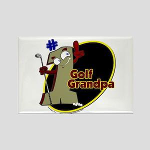 Number 1 Golf Dad Rectangle Magnet