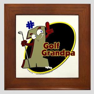 Number 1 Golf Dad Framed Tile