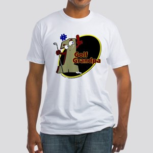 Number 1 Golf Dad Fitted T-Shirt