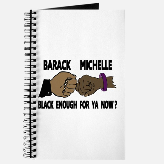 Obama & Michelle Fist Bumping Journal