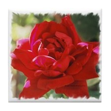 Red Rose Tile Coaster