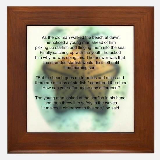Starfish Wisdom Framed Tile