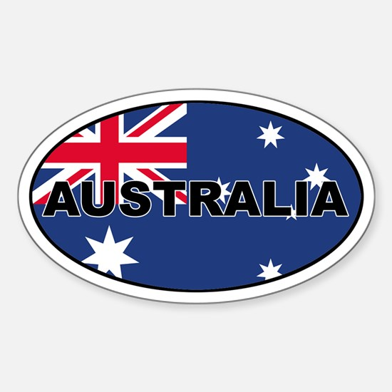 Australian Flag Oval Stickers